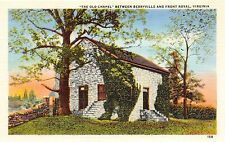 BERRYVILLE & FRONT ROYAL VIRGINIA THE OLD CHAPEL IN CLARKE COUNTY POSTCARD 1940s