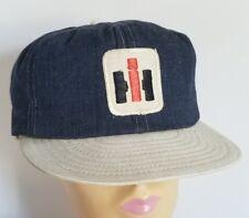 Vintage Denim Ih International Harvester Snap Back Cap Farmer Trucker Hat