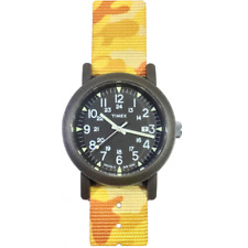TIMEX watch mod CAMPER ref. T2N363OR Man woman in fabric yellow camouflage