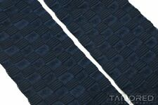 TRAFALGAR Solid Blue Basketweave Woven Mens Luxury Suspenders Braces