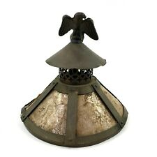 Mica and Metal Arts Crafts Mission Small Lamp Shade Eagle