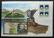 Slovenia Dragon Bridge 1993 City Landmark Statue FDC (banknote cover) *Rare