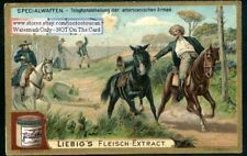 US Army Telephone Communications Troops c1902 Trade Ad  Card