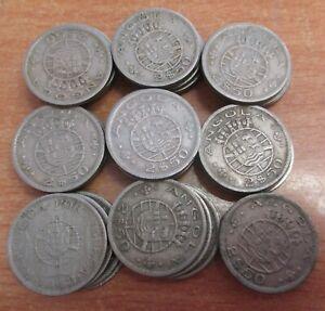 PORTUGUESE ANGOLA LOT OF 40 COINS X 2,5 ESCUDOS KM 77