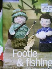 Fisherman & CALCIATORE Giocattolo Bambole amigurumi Crochet Pattern tratta da rivista