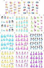 Nail Stickers 11pcs Set Cartoons Princess Water Decals Transfers Belle Jasmine
