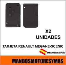 LLAVE TARJETA RENAULT MEGANE , SCENIC CON ELECTRONICA Y ESPADIN-2 UNIDADES