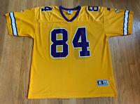Minnesota Vikings Vintage 90's Randy Moss Gold Starter Jersey 54 XXL EUC