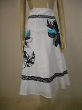 MONSOON (UK) Linen Cotton Skirt sz 12 - BUY Any 5 Items = Free Post