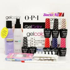 OPI GelColor Soak Off 2015 STARTER KIT Gel Intro ICONIC: Base Top + 6 Color Set