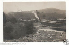 LUMBER INDUSTRY Logs Floating to a Saw Mill Real Photo Postcard RPPC 1910-1924