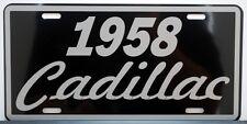 1958 58 CADILLAC METAL LICENSE PLATE ELDORADO COUPE DE VILLE SEDAN BIARRITZ