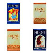 Henna Hair Dye Henne Natural Powder Dyes, Fiery Red, Mahogany, Copper, Chestnut