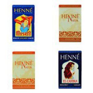 Henna Hair Dye Henne Natural Powder Dyes, Fiery Red, Mahogany, Copper, Chestnut
