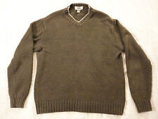 Old Navy Mens Cotton Acrylic Blend Brown/Gray Sweater (Large)