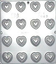 Heart Pieces Chocolate Candy Mold Valentine  3042 NEW