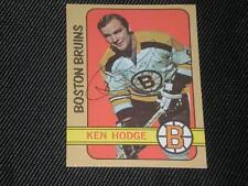 KEN HODGE 1972-73 TOPPS SIGNED AUTO CARD #166 BRUINS