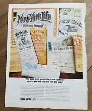 1964 New York Life Insurance great-great-grandfather knew good buy policy ad