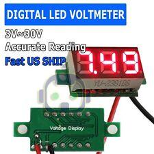 Mini Red Dc 0 30v Led Display Digital Voltage Voltmeter Panel For Arduino