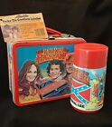 1980 The Dukes of Hazzard Metal Lunch Box & Thermos Aladdin w/ Orgl Retail Tags