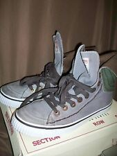 (USED/WORN) TRUE RELIGION MENS SZ 12 M HIGH TOP BASKETBALL SHOES HANABEL GREY