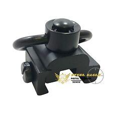 QD quick release gun sling swivel attachment mount fit 20mm weaver rail-Black