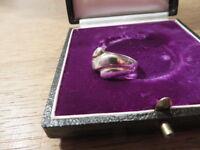 Toller 925 Silber Ring Organisch Modern Designer Schlicht Avantgarde Sterling