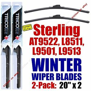 WINTER Wipers 2pk 1999-2000 Sterling Truck AT9522 L8511 L9501 L9513 35200x2