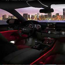 Car Cold Light Red Lamp Strip Atmosphere Interior Decorative Trim 2M For Ford