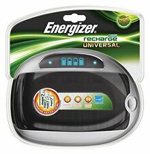 Energizer Universal Battery Charger For AA AAA C D 9v Rechargeable Batteries