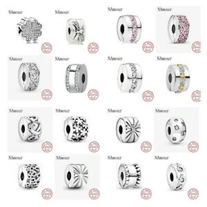 Pandora 925 sterling silver original bracelet charms beads jewelry love heart