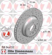 Disque de frein avant ZIMMERMANN PERCE 150.3441.52  BMW 3 E90 335d 286ch