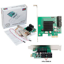Syba SD-PEX40099 4-Port SATA-III PCIe 2.0 x1 Controller Card Supports upto 5.0Gb