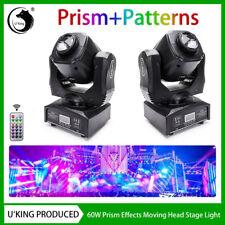 2PCS 80W RGBW Stage Lighting LED Beam Prism Moving Head DMX DJ Disco Party Club