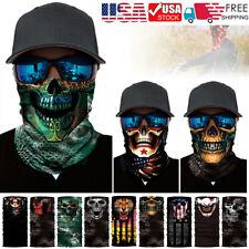 Skull Face Mask Shield Bike Neck Gaiter Balaclava Tactical Mask Bandana Headband
