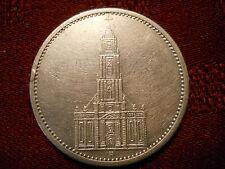 Germany Third Reich 1934 A 5 Reichsmark silver coin  Berlin mint, no date