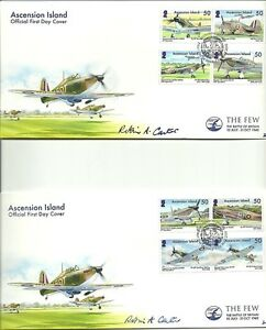 ASCENSION 2010 7TH MAY 70TH ANNIV OF BATTLE OF BRITAIN SIGNED BY ARTIST SET FDC