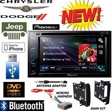 2009 - 2012 DODGE RAM Pioneer DVD BLUETOOTH USB Radio Stereo Double Din Dash Kit