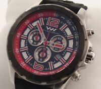 Weil & Harburg Thornton 2 Silver/Black/Red Men's Swiss Chronograph Watch