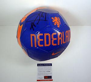 Louis Van Gaal Signed Autograph Netherlands Soccer Ball PSA/DNA COA