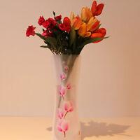 2X neue unzerbrechliche faltbare wiederverwendbare Kunststoff Blumenvase Deluxe