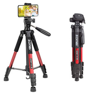 Q111 Aluminium Phone Mount Travel Tripod Compact with Carry Bag for iPhone Vlog