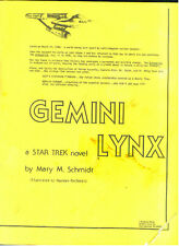 "Star Trek TOS Fanzine ""Gemini Lynx"" GEN Novel"