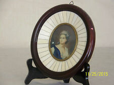 Constance Mayer c18th/19thC Miniature Portrait of Dama Francese del XVlll sec.
