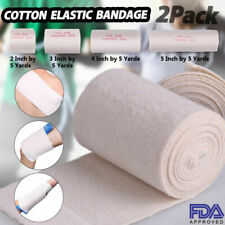 2 3 4 6'' inch Cotton Elastic Bandage Compression Tape Hook and Loop LATEX-FREE