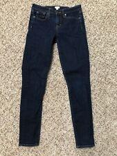 J. Crew Womens Jeans 26 Mid Rise Skinny Dark Wash