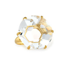 IPPOLITA Gemma Clear Quartz Large Stone Ring in 18k Yellow Gold Size 7