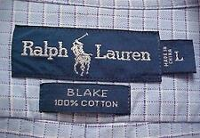 RALPH LAUREN Blake Blue Label Checkered Buttoned Dress Shirt Men's Size Large