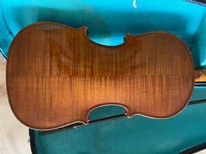 alte geige mit kasten und bogen old violin 3/4 with case and bow