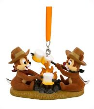 Disney Parks Chip 'n Dale Campfire Marsh mellows Holiday Christmas Ornament